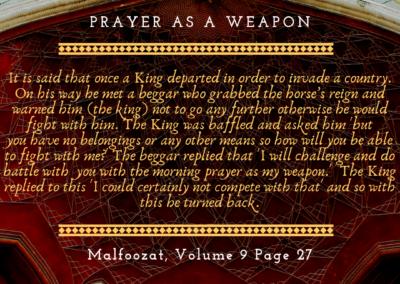 Prayer as a weapon (1)