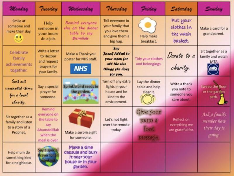 Social Distancing Calendar